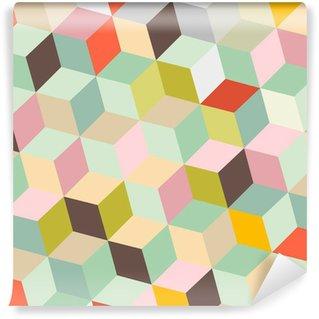 Fotomural Estándar Fondo colorido abstracto del vector Retro