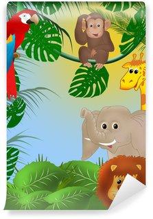 Fotomural Estándar Fondo de la selva linda