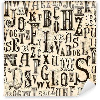 Fotomural Estándar Fondo del alfabeto Vintage