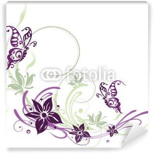 Fotomural Estándar Frühling, Ranke, flora, Blumen, Blüten, filigran, lila, violeta