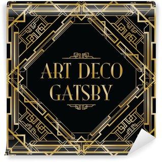 Fotomural Estándar Gatsby fondo art deco