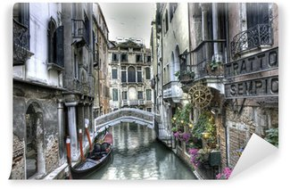 Fotomural Estándar Gondel, Palazzi und Bruecke, Venedig, Italien
