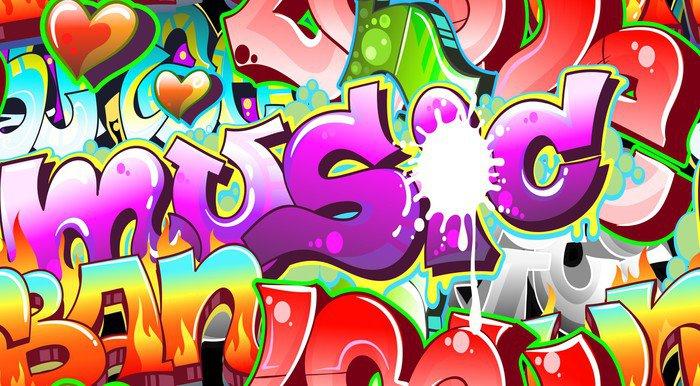 Fotomural Estándar Graffiti Urbano Técnica. Diseño sin costuras - Temas