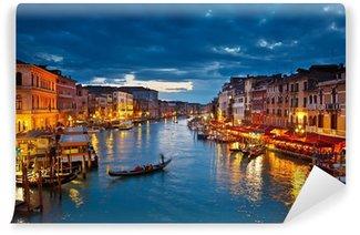 Fotomural Estándar Grand Canal en la noche, Venecia