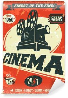 Fotomural Estándar Grunge cartel retro del cine. Ilustración del vector.