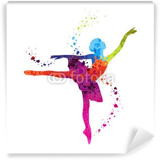 Fotomural Estándar Guisantes bailarín clásico colorido