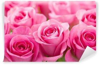 Fotomural Estándar Hermosa rosa rosa flores de fondo