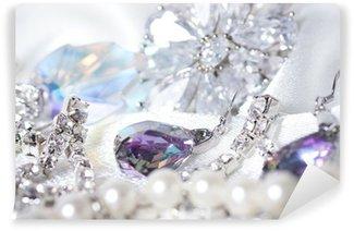 Fotomural Estándar Hermosas joyas en el fondo