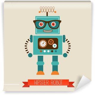 Fotomural Estándar Icono del juguete del robot Hipster