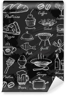 Fotomural Estándar Iconos del menú