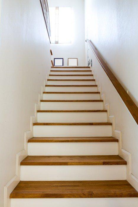 fotomural estndar interior escaleras de madera y pasamanos temas