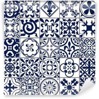 Fotomural Lavable Azulejos marroquíes Patrón sin fisuras A