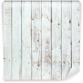 Fotomural Lavable Fondo blanco y negro de la tabla de madera