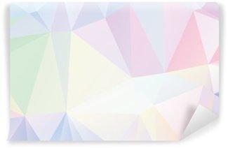 Fotomural Lavable Geométrico del polígono en colores pastel