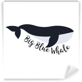 Fotomural Lavable Ilustración del vector de la ballena. diseño del símbolo