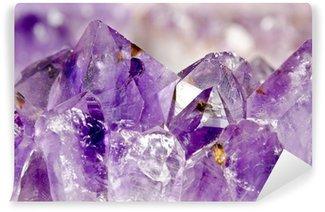Fotomural Lavable Macro amatista, Kristalllandschaft