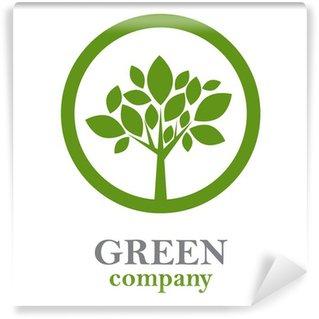 Fotomural Estándar Logo árbol verde, las empresas forestales # Vector