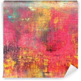 Fotomural Estándar Mano abstracto colorido lienzo pintado textura de fondo