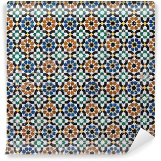 Fotomural Estándar Marroquí de fondo de azulejos de época