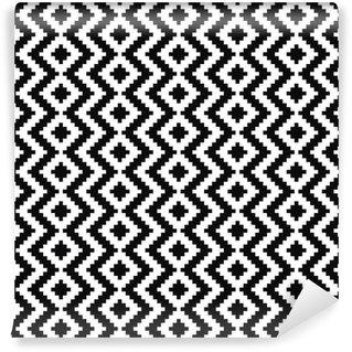Fotomural Estándar Modelo blanco y negro. Ornamento del vector.