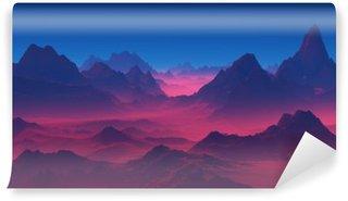 Fotomural Estándar Montañas en la puesta del sol
