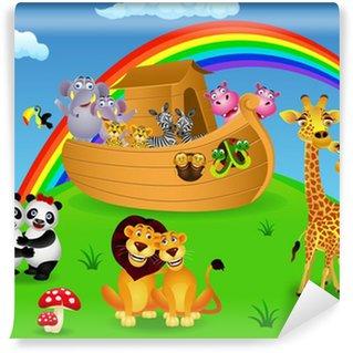 Fotomural Estándar Noé arca con los animales