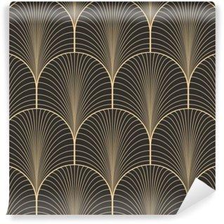 Fotomural Estándar Paleta de arte antiguo de la vendimia sin patrón deco fondo de pantalla de vectores