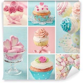 Fotomural Estándar Pasteles dulces de colores