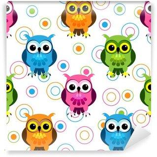 Fotomural Estándar Patrón Seamless owl