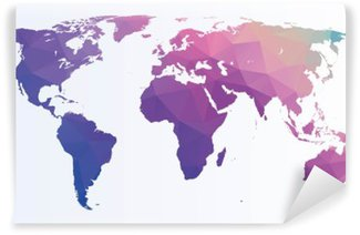 Fotomural Estándar Poligonal mapa del mundo