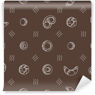 Fotomural Estándar Productos de panadería sin patrón. ilustración vectorial