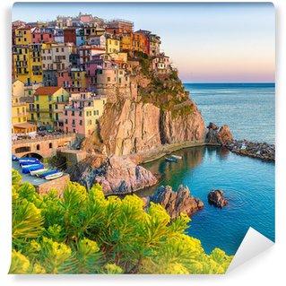Fotomural Estándar Puesta de sol en Manarola, Cinque Terre, Italia