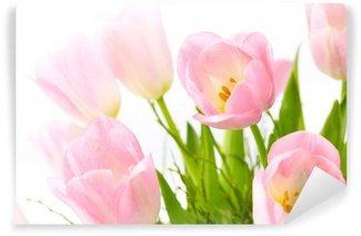 Fotomural Estándar Ramo de tulipanes rosados