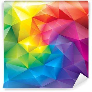 Fotomural Estándar Resumen gemas poligonales colores de fondo.