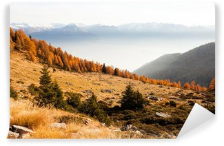 Fotomural Estándar Rhaetian Alps - Paisaje de otoño
