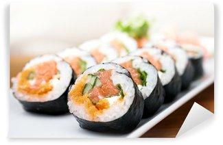 Fotomural Estándar Rollos de salmón y caviar
