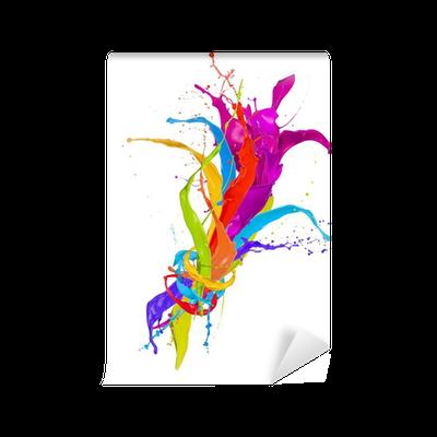 Fotomural est ndar salpicaduras de pintura de color ramo aislados en fondo blanco pixers - Salpicaduras de pintura ...