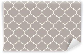 Fotomural Estándar Sin costuras gris antracita amplia vector patrón marroquí