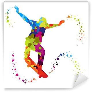 Fotomural Estándar Skater con puntos de colores