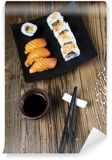 Fotomural Estándar Sushi tradicional comida japonesa