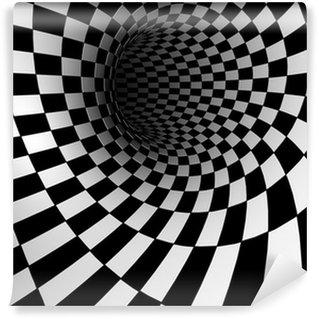 Fotomural Estándar Textura a cuadros 3d