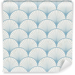 Fotomural Estándar Textura transparente de patrón japonés retro