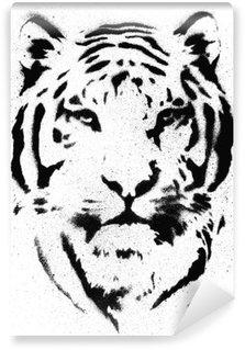 Fotomural Estándar Tiger Vector plantilla