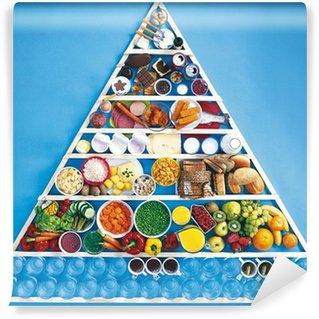Fotomural Estándar Triángulo de la pirámide de alimento / comida