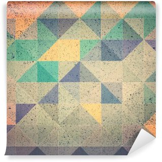 Fotomural Estándar Triángulo rosa y morado de fondo abstracto