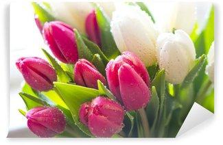 Fotomural Estándar Tulipanes frescos