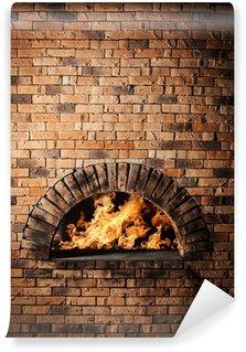 Fotomural Estándar Un horno tradicional para cocinar y hornear pizza.