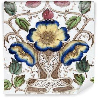 Fotomural Estándar Un mosaico de estilo Art Nouveau de alrededor de 1890 con diseño de flores