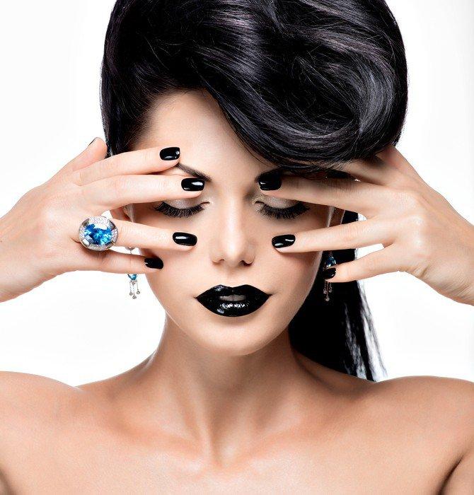fotomural estndar uas labios y ojos de la mujer del encanto pintado de color negro