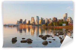 Fotomural Estándar Vancouver BC horizonte de la ciudad de la mañana